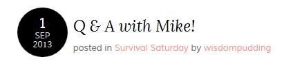 New Preppers: Q&A With Mike!