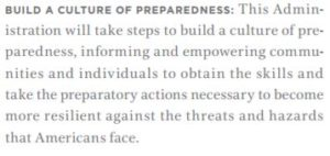 culture of preparedness
