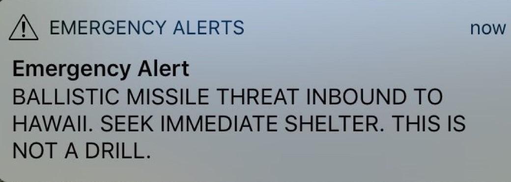 Hawaii false missile alert - building a culture of preparedness